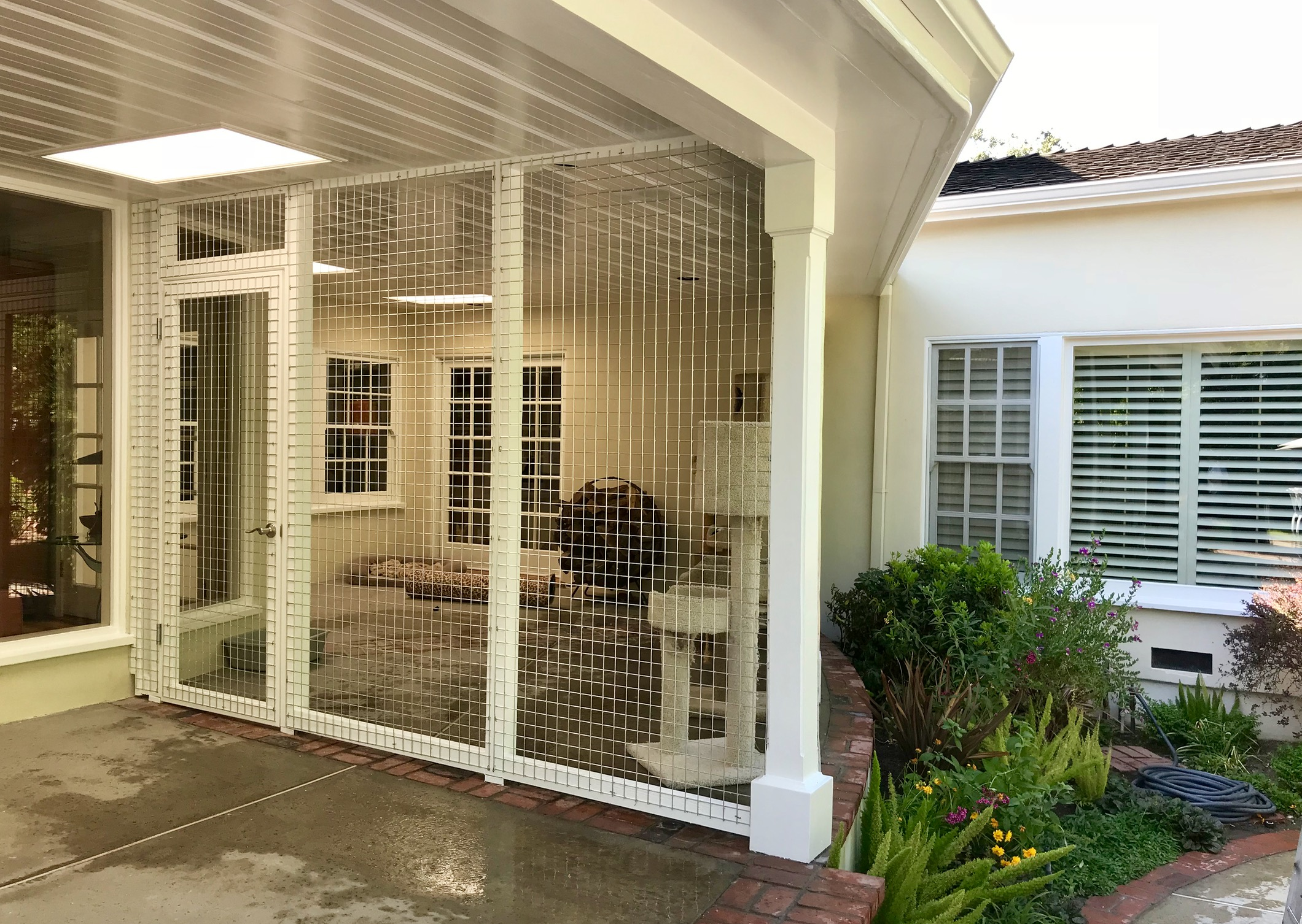 Toluca Lake Catio Left Side with Door